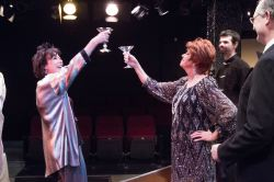 Mame (Michel Guyton) and Vera (Eleni Densmore) share a toast to A NEW DAY.