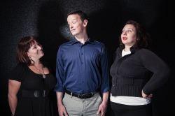 'Bobby and girlfriends': Lauren Everd, Tom Burns, Sarah Ford Gorman