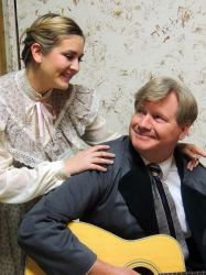 Melissa Ann Martin as Maria and Steve Steele as Captain von Trapp